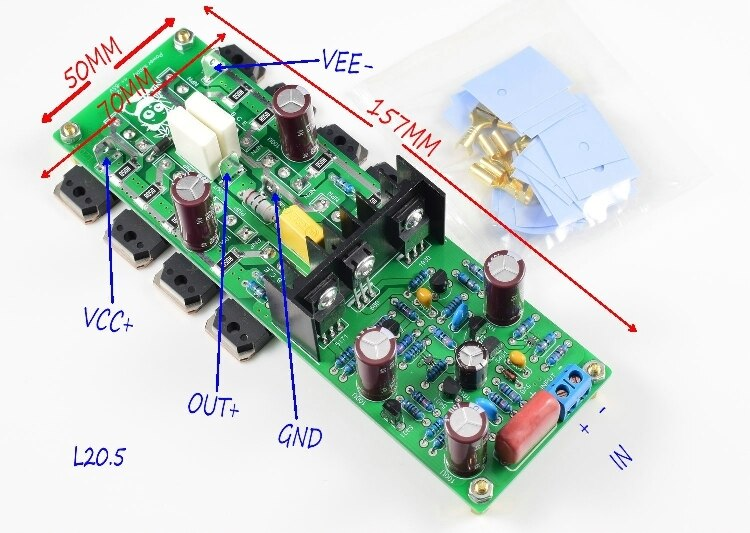 Placa de Circuito Duplo Canal Música Áudio Alto-falante Amplificador Faça Você Mesmo Produto Acabado Ljm L20b 500w
