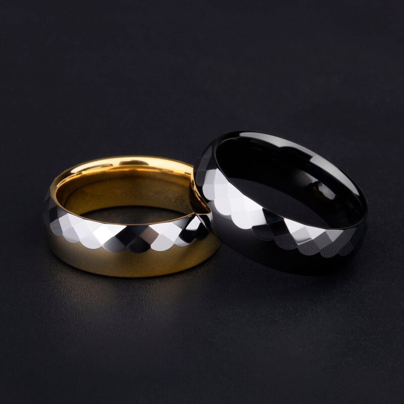 Engagement Ring, 7mm Width Half High Polished Half Prism Design Tungsten Casual for Women Men, Customized, Free Shipping free shipping 20 holes hole size 1 10 3 00mm half round shape draw plate jewelry tungsten drawplates