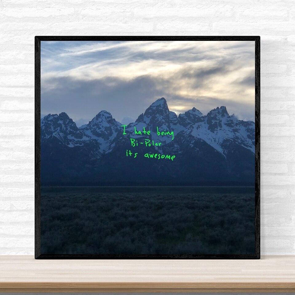Kanye west ye música álbum capa cartaz de impressão em tela arte da parede decoração para casa sem moldura