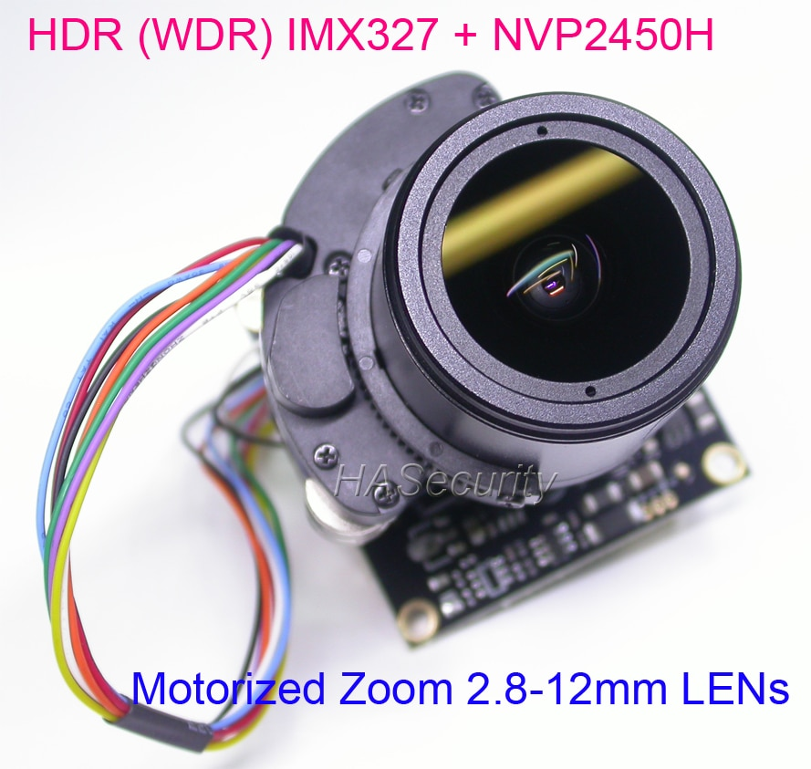 Моторизованный зум HDR (WDR), объектив 2,8-12 мм, AHD (1080P), 1/2, 8 дюймов, модуль платы Sony STARVIS IMX327 + NVP2450 камера видеонаблюдения PCB + кабель OSD