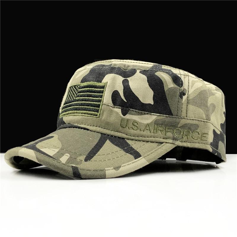 Gorras militares de la Fuerza Aérea para hombre, sombrero de estrella de...