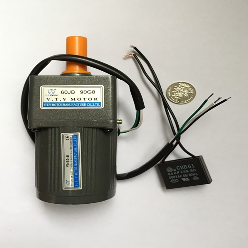 220V AC  gear motor CE Certification and Permanent Magnet Construction brushless YN60 serirs similar to Linix motor chang liang xia permanent magnet brushless dc motor drives and controls