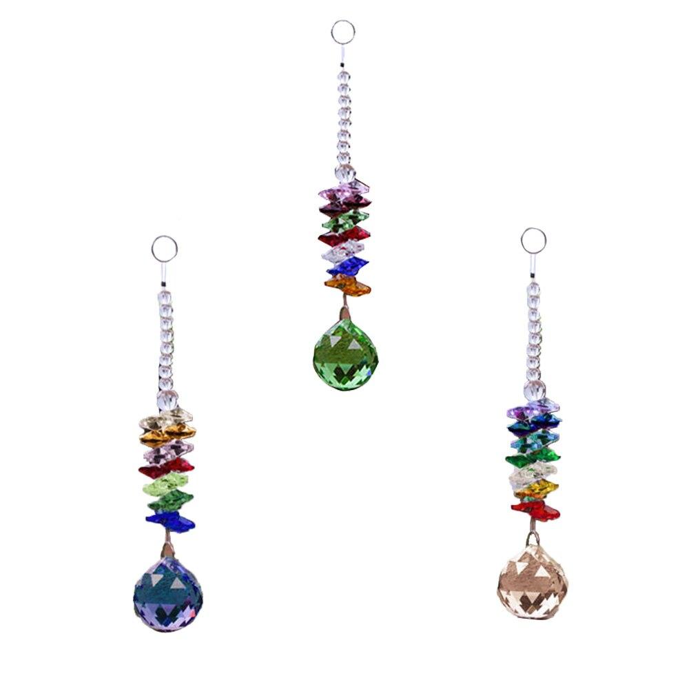 Adornos colgantes de cristal, atrapasoles de cristal, colgante de ventana, máquina de arcoíris Fengshui, araña Prisma de bola
