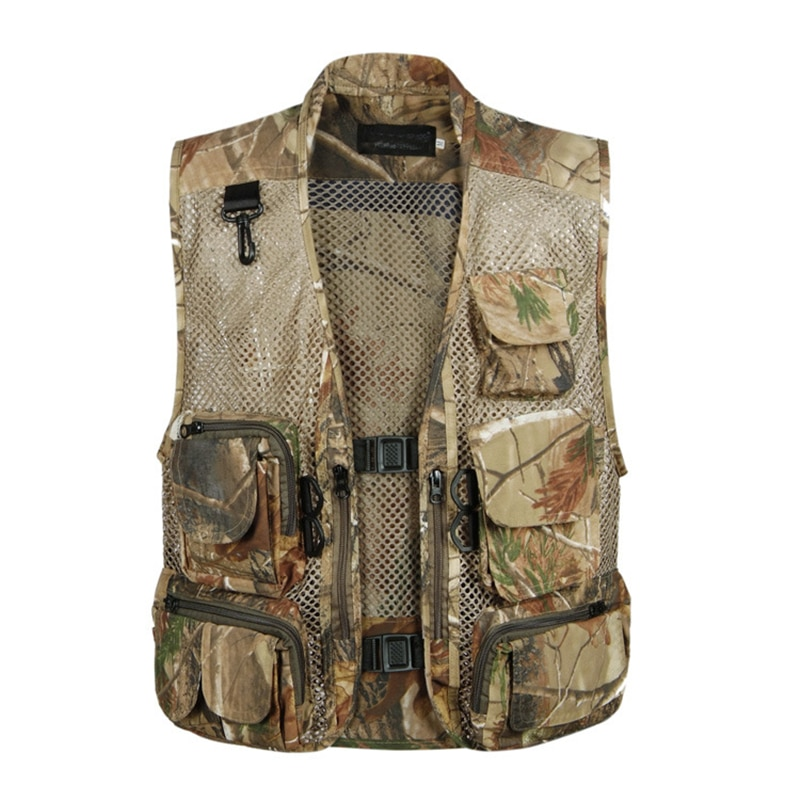 Outdoor Vissen Vesten Quick Dry Ademende Multi Pocket Mesh Jassen Fotografie Sport Wandelen Vest Army Camouflage Vis Vest