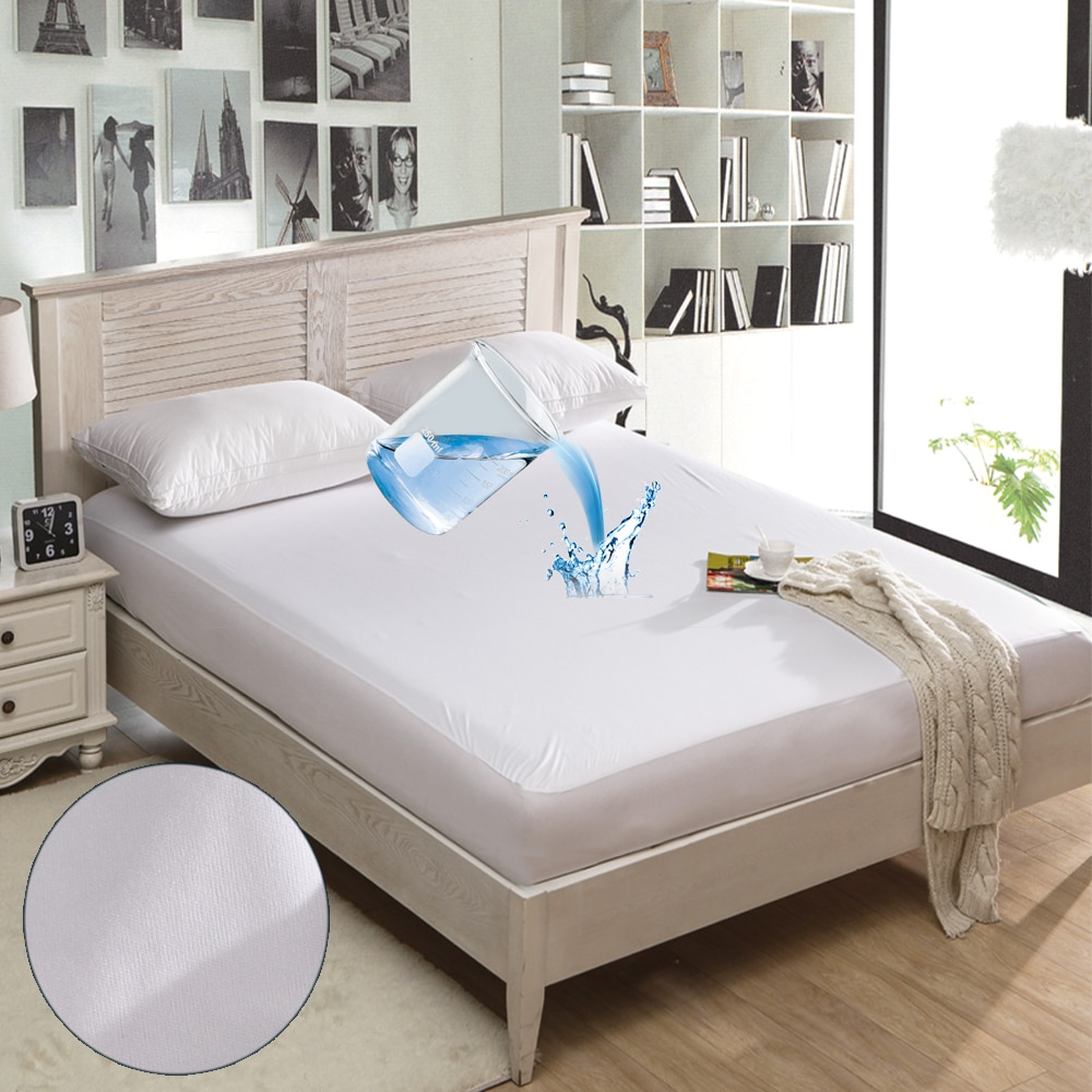 Warmtex suave colchón cubierta impermeable cama Protector de colchón de espuma de memoria Topper colchón cama almohadilla Anti ácaro cubierta de cama queen tamaño