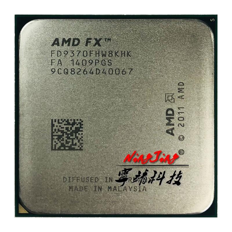 Amd fx-series FX-9370 fx 9370 4.4 ghz oito-núcleo processador cpu 220 w fd9370fhw8khk soquete am3 +