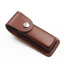 Fold Knife Belt Loop Sheath Tool Flashlight Holster Camp Case Holder Leather Outdoor Pocket Hunt Carry Pouch Bag Multi Gear