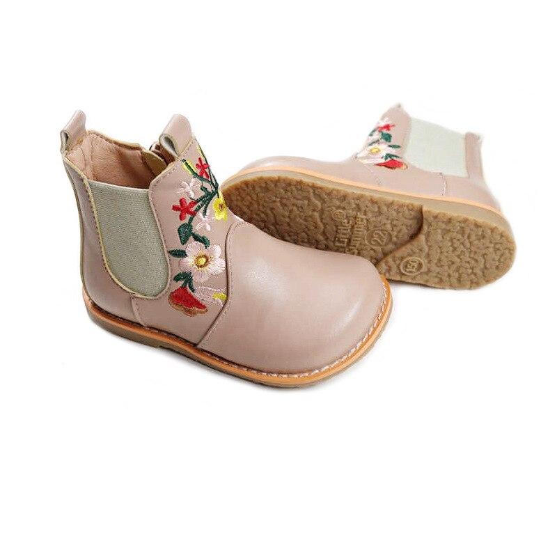 أحذية جلدية مطرزة عصرية للبنات ، أحذية أميرة للحفلات ، أحذية المطر للأطفال