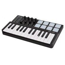 Worlde Panda mini Tragbare Mini 25-Key USB Tastatur und Trommel Pad MIDI Controller midi tastatur klavier controlador midi klavier digi