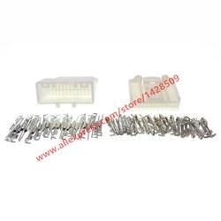 10 conjuntos de 24 pinos automotivo áudio navegação rearview conector tomada automática macho fêmea 1473413-1 1318917-1