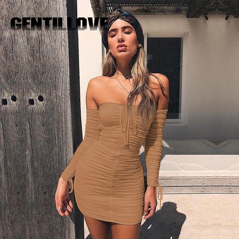Mini vestido Sexy de verano sin tirantes, ajustado, de manga corta y sin hombros, vestido ceñido y plisado informal, Shor