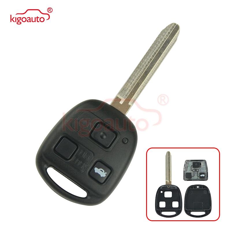 Kigoauto 50171 remoto clave 3 buttonTOY43 hoja para Toyota Land Cruiser FJ Cruiser 1998-2011 + 434mhz + 4D67