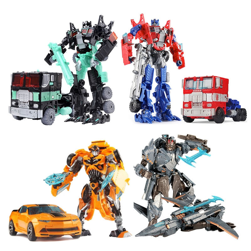 19cm שינוי רכב רובוט צעצועי הדבורה Optimus ראש מגהטרון השקרניקים ג 'אז אוסף פעולה איור מתנה לילדים