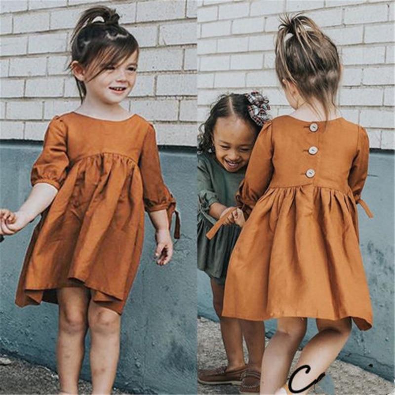 Primavera 2019 nuevo tout-petit Petite Fille Manches Courtes Robe princesa Tutu gingmorember Tenues vestidos para niños
