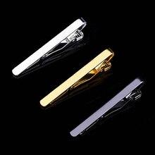 2019 mode métal argent pince à cravate pour hommes mariage cravate cravate fermoir pince Gentleman cravate barre cristal épingle à cravate pour hommes cadeau