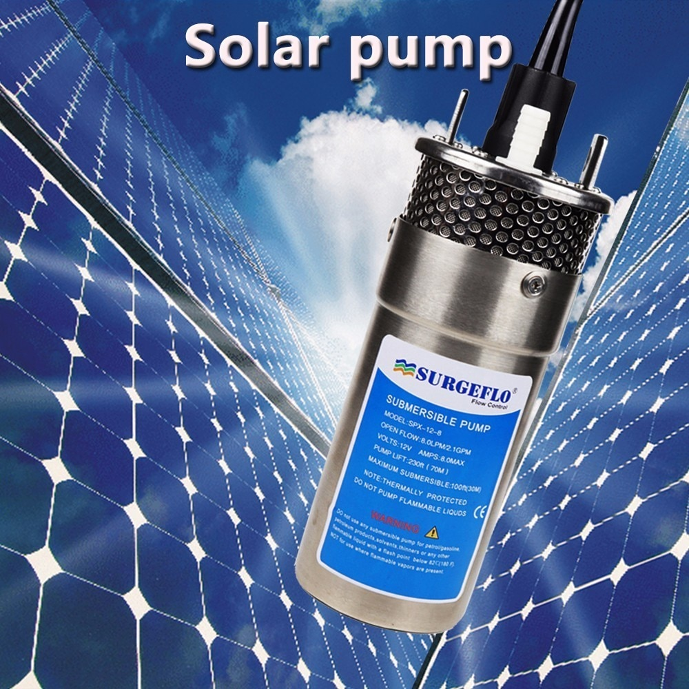 dc 12v 24v mini solar power high pressure water pump 70 meter lift diaphragm submersible outdoor garden fountain deep well 12v/24v Large Flow Lift=70m Mini Submersible Solar Energy Water Pump Car Wash Bilge Cleaning Outdoor Garden Deep Well 12 24 V