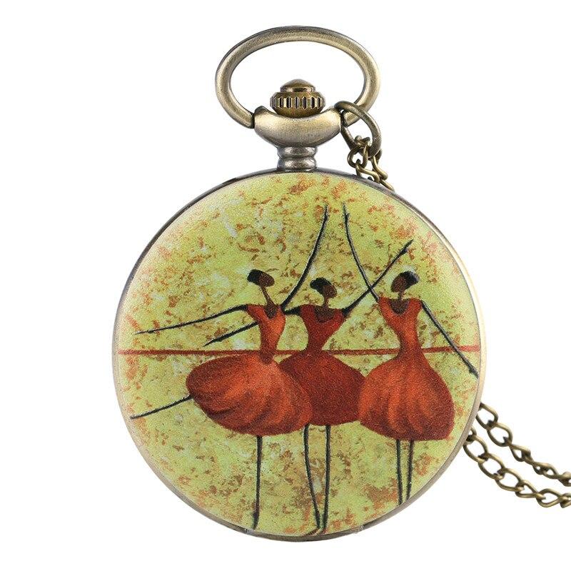 Reloj de bolsillo con diseño de bailarina de Pokemon Ballet para la restauración de la literatura y el arte, regalo exquisito para reloj de bolsillo