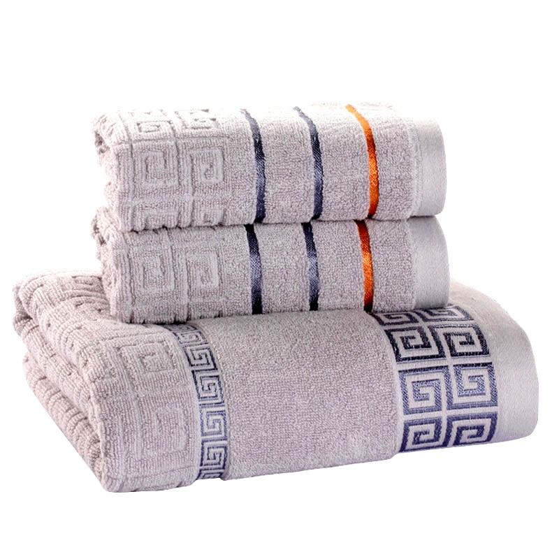 3 حزمة منشفة مجموعة 100% ٪ القطن 70x140cm منشفة استحمام و 2 الوجه منشفة اليد سوبر لينة ماصة تيري منشفة للبالغين