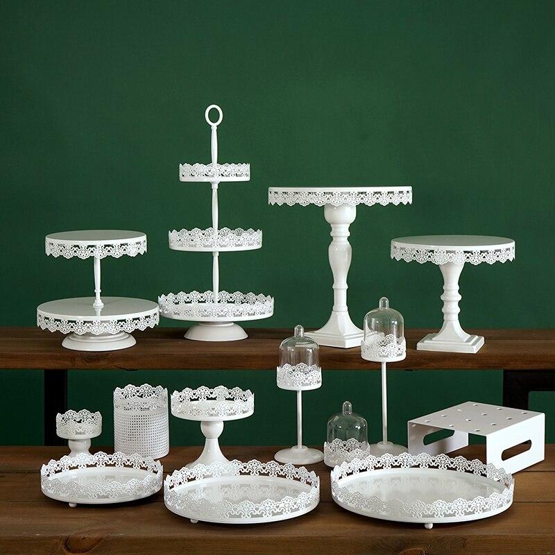 Sweetgo белый торт стенд набор кружевной край кекс поднос украшение дома десерт стол Партия Поставщик стеллажи для хранения 5 различных наборо...