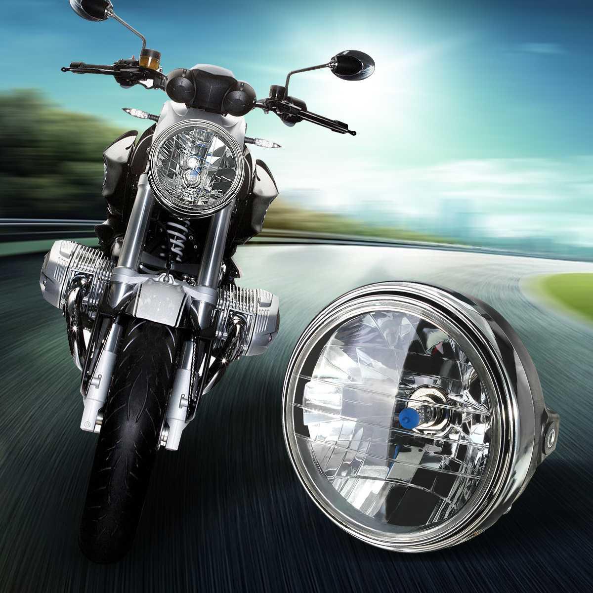 Faro delantero redondo de motocicleta de 7 pulgadas 35W H4 linterna LED para cabeza para Honda/Kawasaki/Suzuki/Yamaha