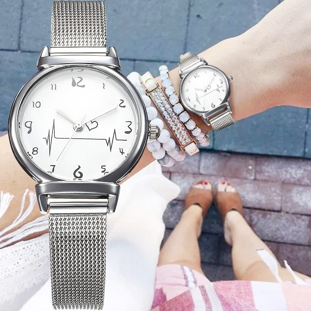 Hot Luxury Ultra Thin Stainless Steel Quartz Watch Lady Casual Hours Bracelet Watches Women Lovers Female Clock Gift Reloj Mujer ultra thin luxury claw setting lady women s watch fashion crystal hours dress bracelet woman clock girl s gift royal crown box