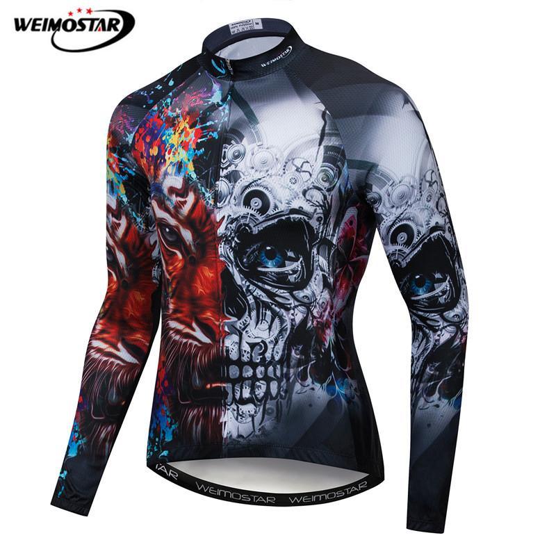 Weimostar 2020 Pro Team велосипедная одежда с черепом для мужчин с длинным рукавом для гонок Джерси осень полиэстер mtb велосипедная куртка