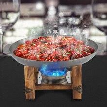 25 см круглое блюдо для барбекю утолщенный корейский противень Гриль Шашлык для барбекю натирающее блюдо вечерние сковорода для буфета кухонная посуда