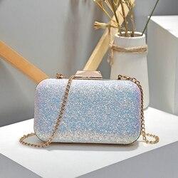 Bolsa clutch feminina, bolsa de festa de casamento saco de festa diamante strass