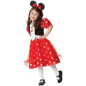 2019 SS Black Red Patchwork Minnie Kids Dress 3-11 Years Halloween Anime Cosplay Clothes Halloween  Carnival Costume Dress