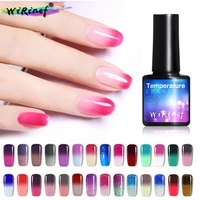 wirinef 8ml mood color change thermo nail gel polish varnish temperature color changing soak off uv gel lacquer