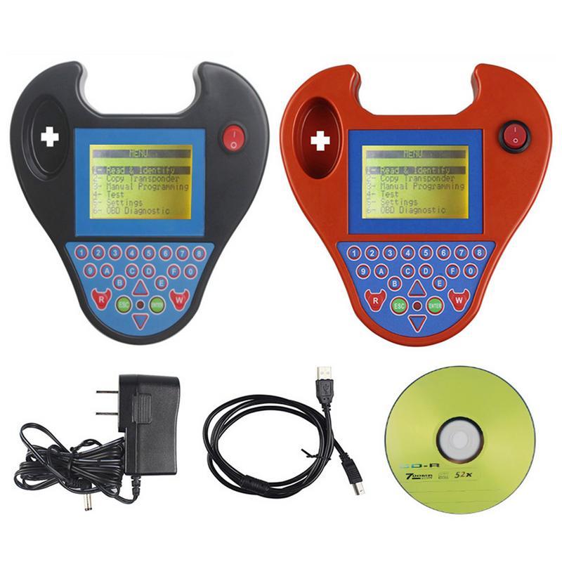 Mini Zedbull V508 clave inteligente transpondedor programador PC USB Cable adaptador de corriente CD