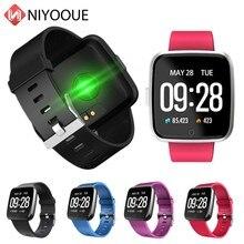 Y7 Bluetooth montre intelligente fréquence cardiaque pression artérielle sommeil moniteur étanche couleur écran Smartwatch Sport bande pour Ios Android