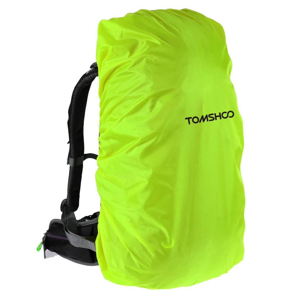 TOMSHOO 40L-50L mochila de bicicleta cubierta de lluvia impermeable resistente a rasgaduras bolsa reflectante cubierta para ciclismo al aire libre senderismo Camping