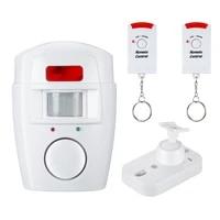 Systeme dalarme de securite a domicile detecteur sans fil   2x telecommandes Pir capteur de mouvement infrarouge alarme moniteur dalarme sans fil