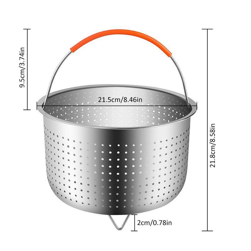 304 нержавеющая сталь для приготовления риса Паровая корзина скороварка анти-ошпариватель Многофункциональная Корзина для очистки фруктов