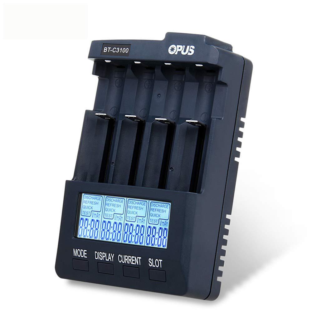 Cargador de batería Digital inteligente EastVita Opus BT-C3100 V2.2, 4 ranuras, AA/AAA LCD, Opus BT-C3100 V2.2, cargador de batería r30
