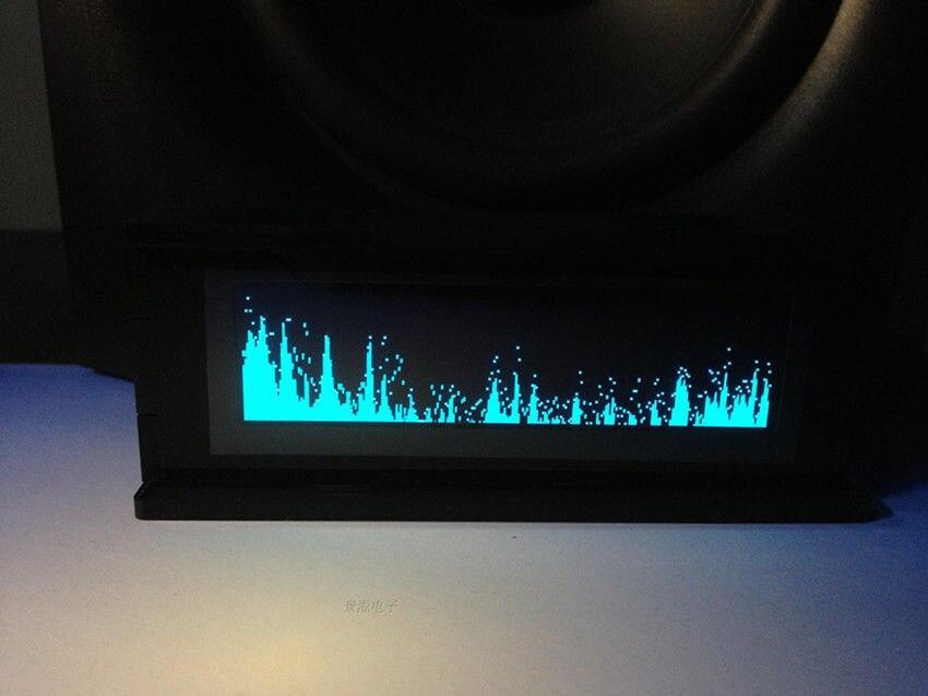 Dykb profissão as256/3.12 polegada display de espectro de música amplificador de áudio do carro indicador nível oled equilíbrio medidor