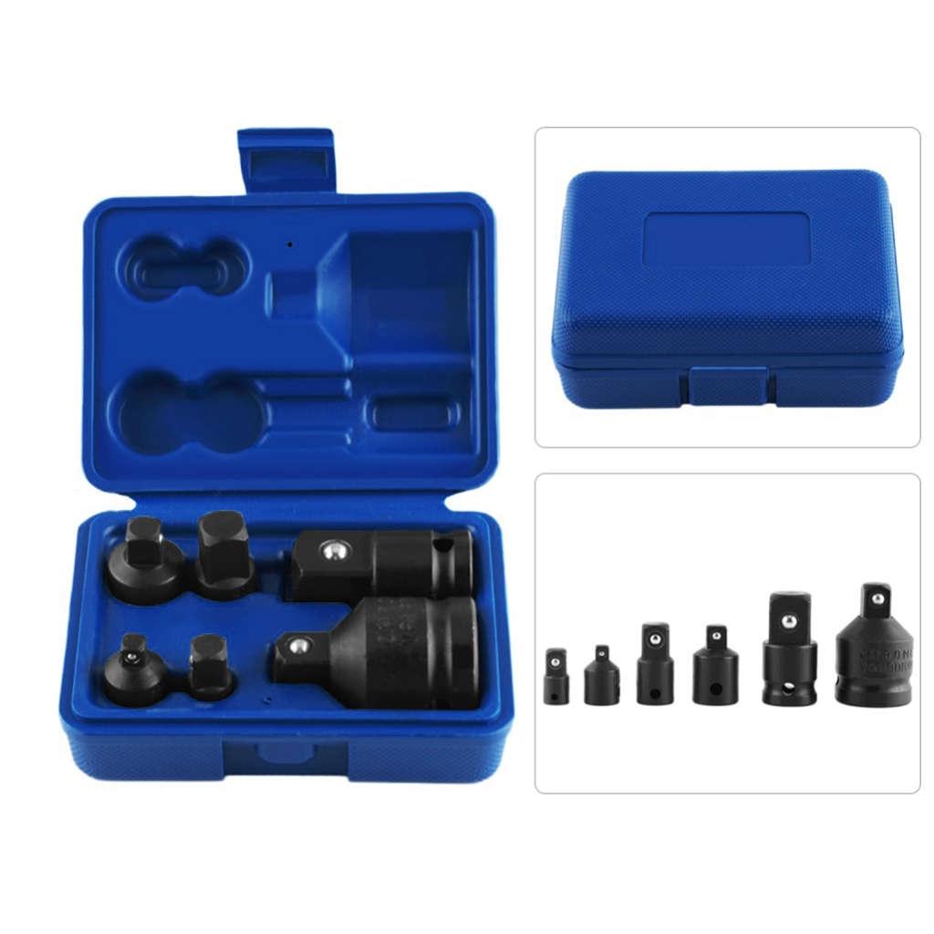 6Pcs/Set Socket Wrench Hand Wrench Tool Set Impact Socket Adaptor Reducer Adapter 1/4 1/2 3/8 3/4 Ratchet Breaker Driver