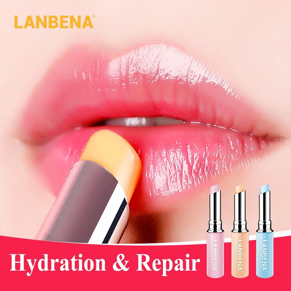 LANBENA caméléon baume à lèvres Rose acide hyaluronique hydratant nourrissant lèvres plus dodues lèvres lignes extrait naturel maquillage rouge à lèvres