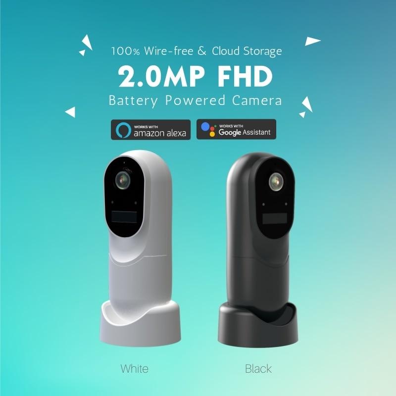 1080P HD WIFI Video IP Camera Support Amazon Alexa & Google Assistant Voice Control Free P2P Cloud Service to Push Alarm via APP
