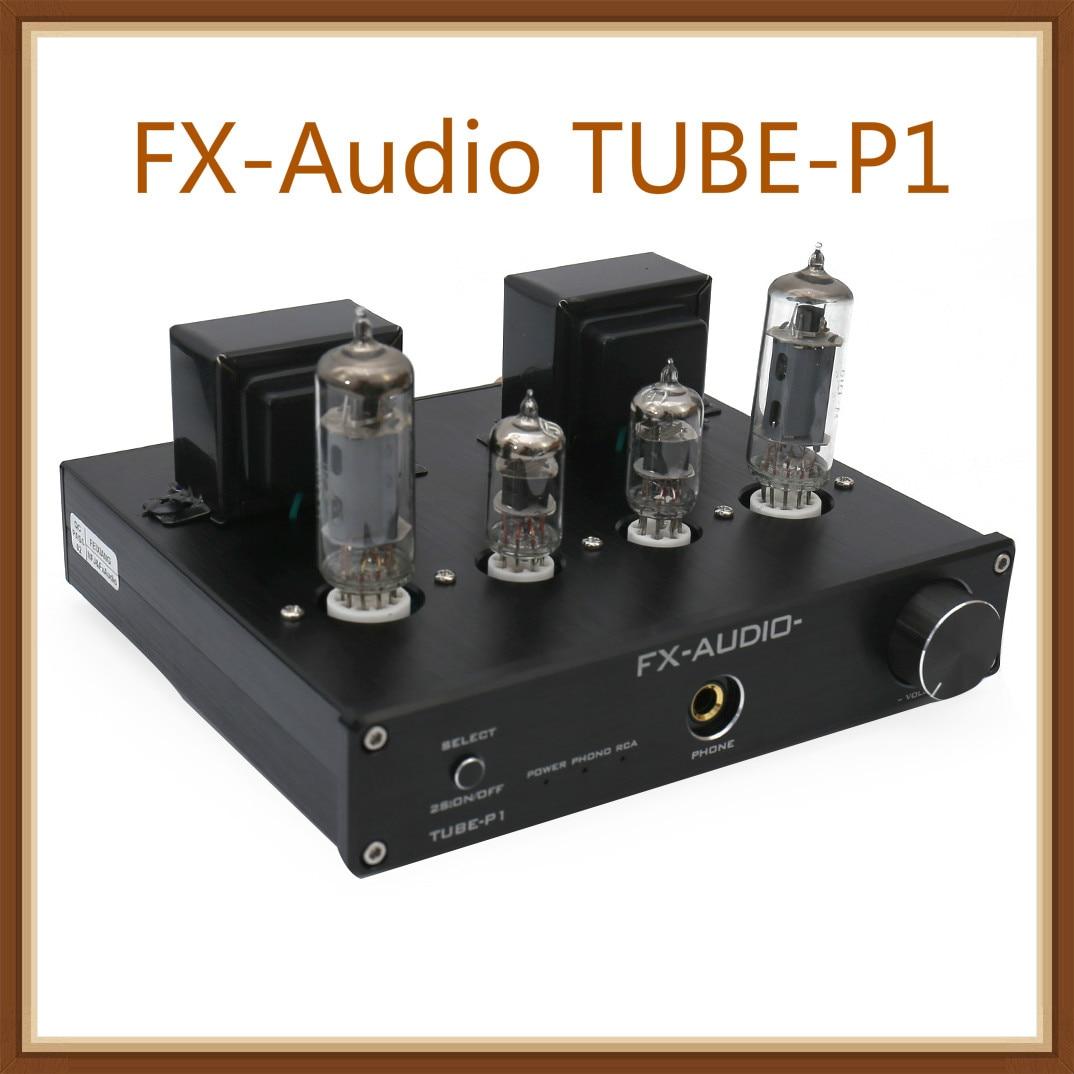 Fx-audio TUBE-P1 HIFI MCU de extremo único clásico A amplificador de tubo de alimentación de escritorio