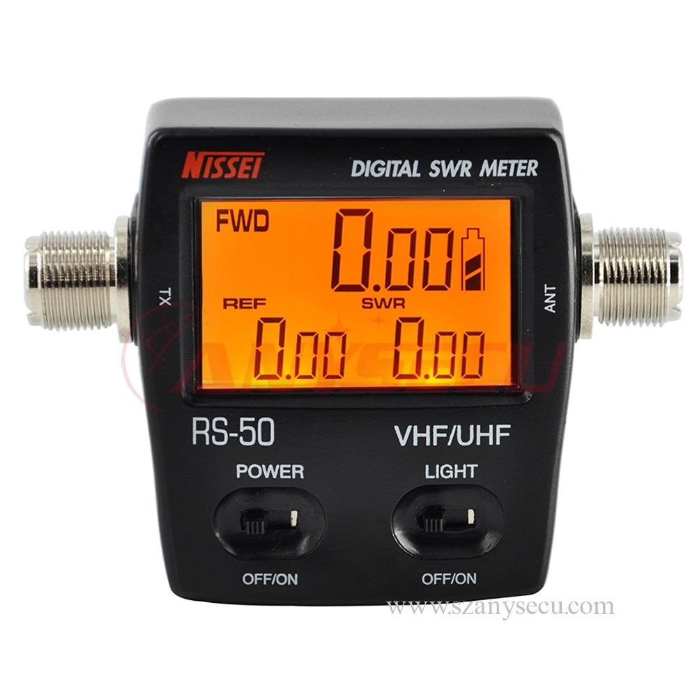 RS-50 الرقمية SWR/واط متر NISSEI 125-525MHz UHF/VHF M نوع موصل ل TYT Baofeng LED شاشة راديو الطاقة مكافحة