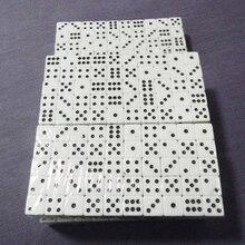 Durable 16mm blanc et noir acrylique dés Cube perles-100 pièces/ensemble barre KTV Machine automatique jeu spécial dés boisson dés dés