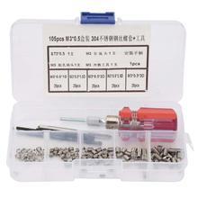 105 stks/set Rvs Insert Voor Hardware Reparatie Tools Kit Rvs Draad Schroef Mouw Draad Reparatie