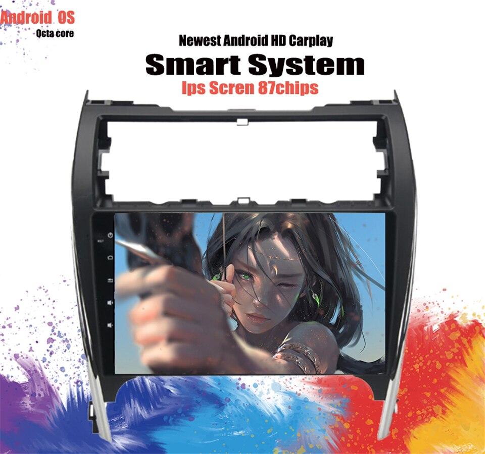 GPS, reproductor para coche Android 10,2 de 10,0 pulgadas para Toyota Camry 2012-2014 Unidad de EE. UU. Y Oriente Medio con 8 núcleos 4GB Ram autorradio Carplay SIN DVD
