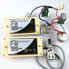 1 jeu de Humbucker Pickups pour guitare électrique, avec faisceau de câblage Pro, Chrome, LP, Standard ProBucker N et B