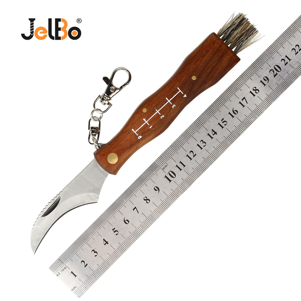 JelBo עץ פטריות מתקפל סכין להב רב-פונקציה חיכוך ידית כלי חיצוני הישרדות נייד כיס כלי סכין