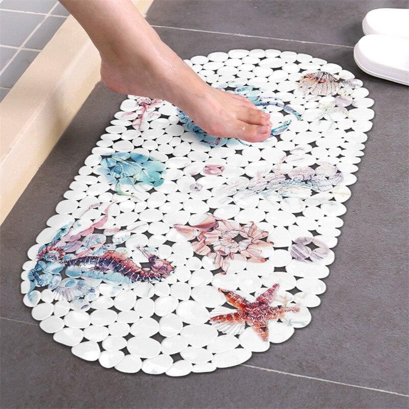 Tapete de banho antiderrapante oceano animal banheiro tapete de pvc inferior otário tapete de banheiro tapis salle de bain alfombra bano douchemat
