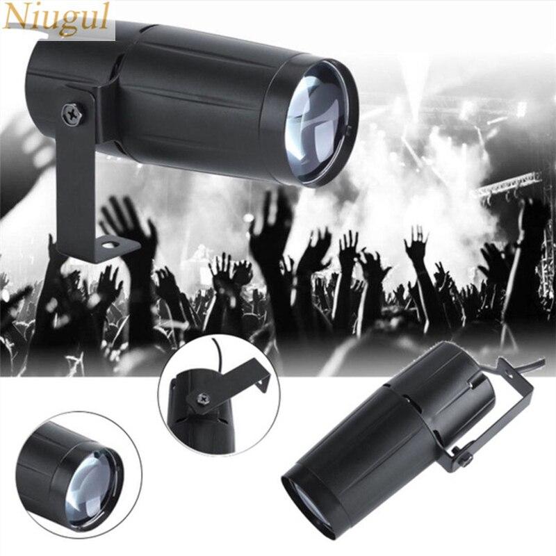 Foco LED de 5W RGBW con efecto de haz, luz de escenario, bola giratoria, para DJ, discoteca, Bar, KTV, fiesta, iluminación de escenario, luz LED Pispot