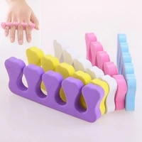 50pcs soft foam sponge toe separator finger separator nail art tools feet care manicure pedicure flexible uv gel polish coating